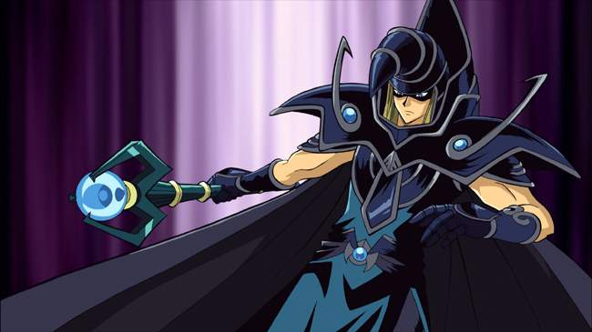 SORCERER OF DARK MAGIC in the animated picture YU-Gi-Oh